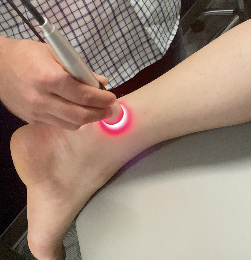chiropractor, chiropractor Thornton, chiropractic, sports chiropractor,  Denver sports doc, laser therapy, ankle pain, ankle sprain, infrared laser, therapeutic laser